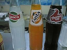 Atom Bomb- thumbs up, fanta, limca