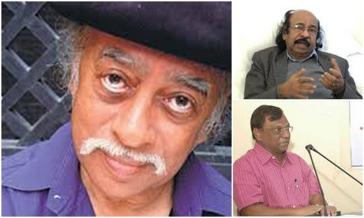 Dilip Chitre, K. Sachidanandan and Sharankumar Limbale (Clockwise)