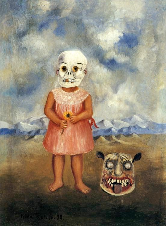 kahlo-girl-death-mask