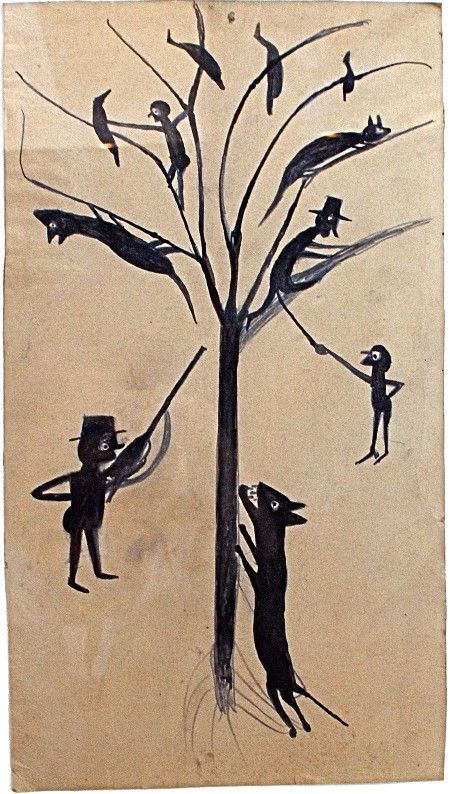 Bill Traylor tree and animals