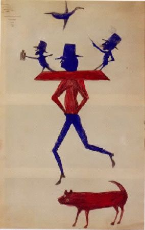 Man With Yoke-Bill Traylor