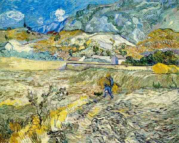 Peasant in a Wheat Field- Van Gogh
