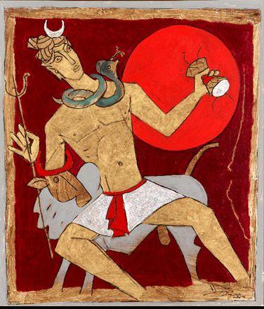 Shiva- M F Hussain