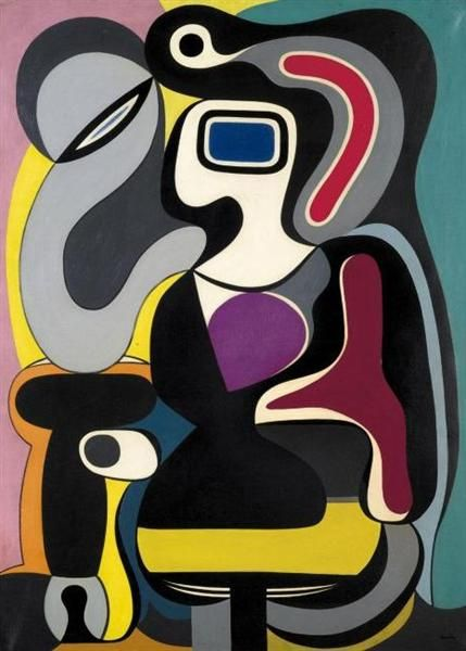 Composition, 1928 by Auguste Herbin.